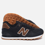 Мужские кроссовки New Balance ML574TXA 15 Ounce Canvas Pack Black/Brown фото- 2