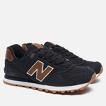 Мужские кроссовки New Balance ML574TXA 15 Ounce Canvas Pack Black/Brown фото- 1