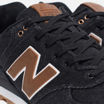 Мужские кроссовки New Balance ML574TXA 15 Ounce Canvas Pack Black/Brown фото- 5