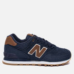 Мужские кроссовки New Balance ML574TXB 15 Ounce Canvas Pack Navy/Brown фото- 0