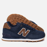 Мужские кроссовки New Balance ML574TXB 15 Ounce Canvas Pack Navy/Brown фото- 2