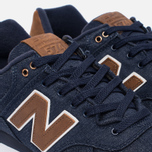 Мужские кроссовки New Balance ML574TXB 15 Ounce Canvas Pack Navy/Brown фото- 5