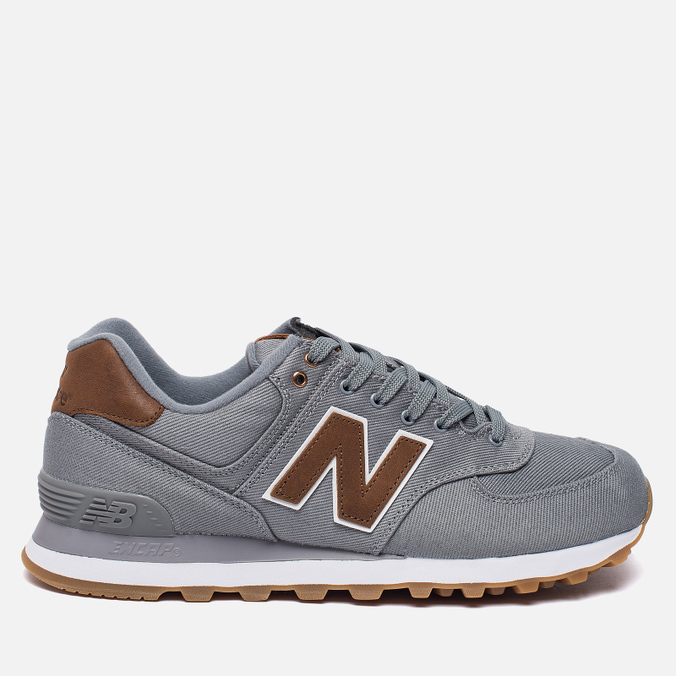 Мужские кроссовки New Balance ML574TXC 15 Ounce Canvas Pack Grey/Brown