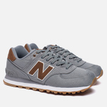 Мужские кроссовки New Balance ML574TXC 15 Ounce Canvas Pack Grey/Brown фото- 1