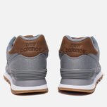 Мужские кроссовки New Balance ML574TXC 15 Ounce Canvas Pack Grey/Brown фото- 3
