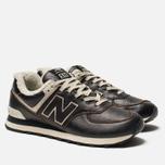 Мужские кроссовки New Balance ML574WNE Dark Brown фото- 2