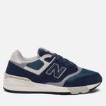 Мужские кроссовки New Balance ML597AAA Blue/Black/Orion Blue/Grey фото- 0