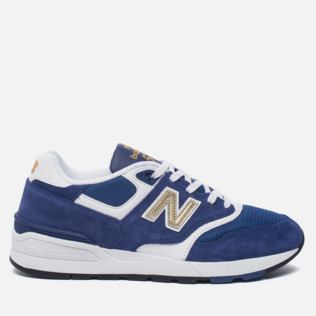 Мужские кроссовки New Balance ML597RSB Blue/White/Gold