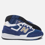 Мужские кроссовки New Balance ML597RSB Blue/White/Gold фото- 1