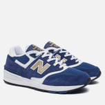 Мужские кроссовки New Balance ML597RSB Blue/White/Gold фото- 2