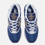 Мужские кроссовки New Balance ML597RSB Blue/White/Gold фото- 4