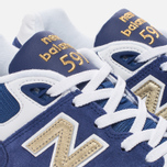 Мужские кроссовки New Balance ML597RSB Blue/White/Gold фото- 5