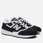 Мужские кроссовки New Balance ML597RSD Black/White фото- 2