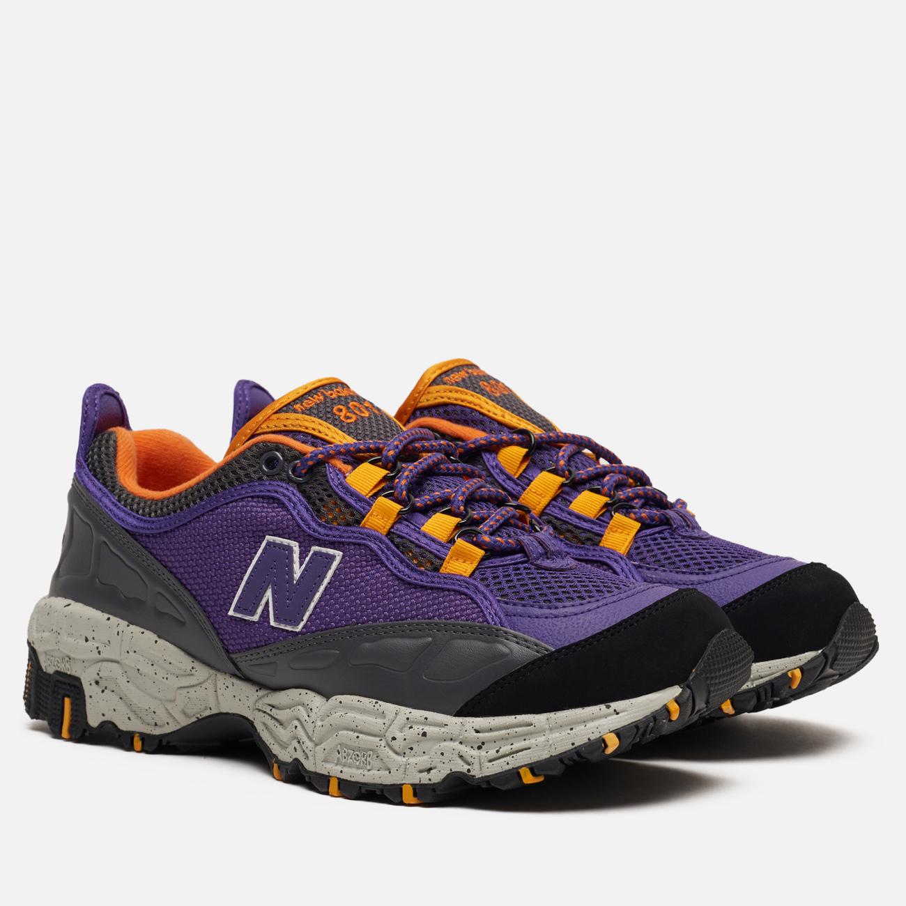 Мужские кроссовки New Balance ML801NEA Prism Purple/Black/Orange