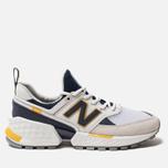 Мужские кроссовки New Balance MS574EDD White/Navy/Yellow фото- 0