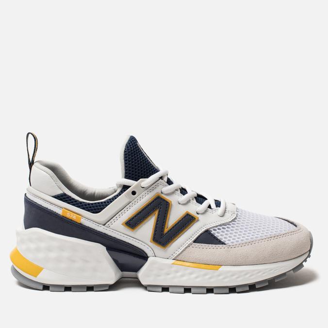 Мужские кроссовки New Balance MS574EDD White/Navy/Yellow