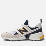 Мужские кроссовки New Balance MS574EDD White/Navy/Yellow фото- 2