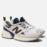 Мужские кроссовки New Balance MS574EDD White/Navy/Yellow фото- 1