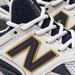 Мужские кроссовки New Balance MS574EDD White/Navy/Yellow фото- 6