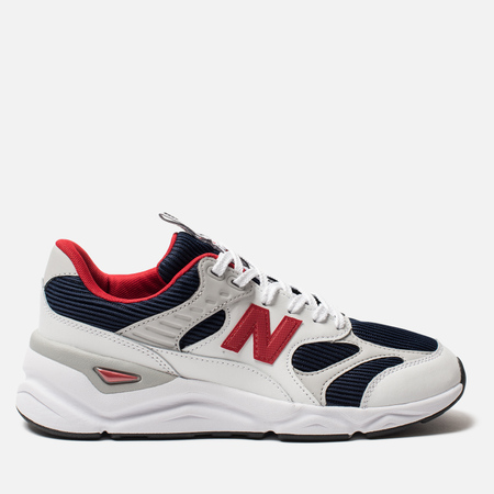 Мужские кроссовки New Balance MSX90TBD X-90 Suede White/Navy