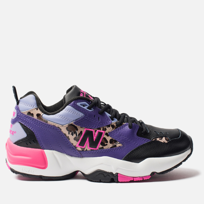 Мужские кроссовки New Balance MX608SA1 Black/Prism Purple/Leopard Print