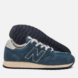 Мужские кроссовки New Balance U520AB Suede Mallard Blue/Teal фото- 2