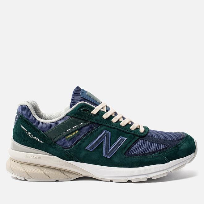 Мужские кроссовки New Balance x Aime Leon Dore 990v5 Green/Violet/White