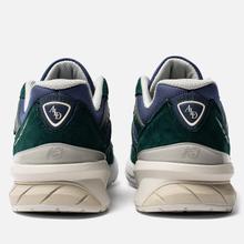 Мужские кроссовки New Balance x Aime Leon Dore 990v5 Green/Violet/White фото- 2