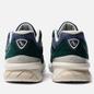 Мужские кроссовки New Balance x Aime Leon Dore 990v5 Green/Violet/White фото - 2
