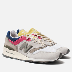 Мужские кроссовки New Balance x Aime Leon Dore C-M997ALL Grey/Canary Yellow