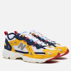 Мужские кроссовки New Balance x Aime Leon Dore ML827ADD White/Yellow/Blue