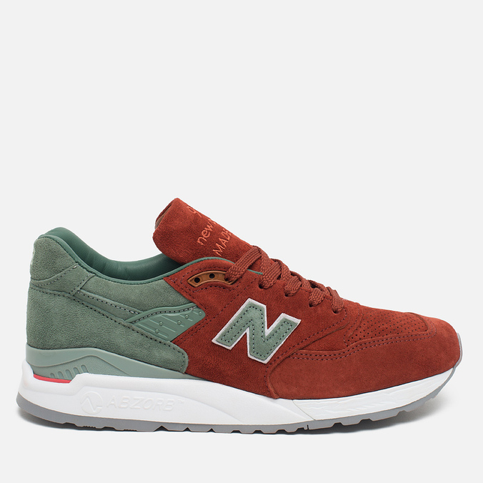 Мужские кроссовки New Balance x Concepts M998BMG Boston Red/Green