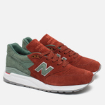 Мужские кроссовки New Balance x Concepts M998BMG Boston Red/Green фото- 1