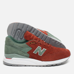 Мужские кроссовки New Balance x Concepts M998BMG Boston Red/Green фото- 2