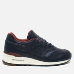 Мужские кроссовки New Balance x Horween Leather Co M997 Explorer Navy/Tan фото- 0