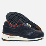 Мужские кроссовки New Balance x Horween Leather Co M997 Explorer Navy/Tan фото- 2