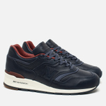 Мужские кроссовки New Balance x Horween Leather Co M997 Explorer Navy/Tan фото- 1
