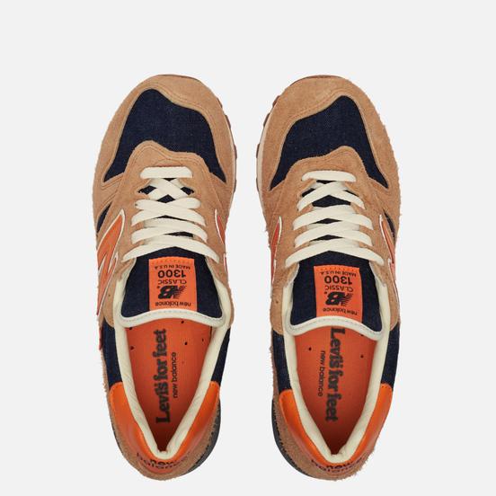 Мужские кроссовки New Balance x Levi's M1300LV Orange/Blue/Tan
