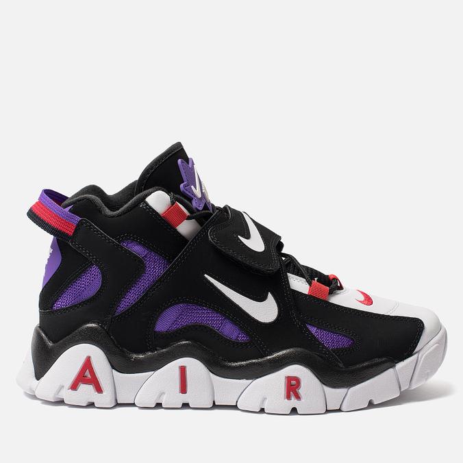 Мужские кроссовки Nike Air Barrage Mid QS Black/White/Hyper Grape/University Red