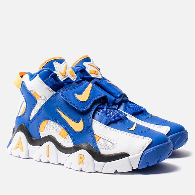 Мужские кроссовки Nike Air Barrage Mid White/Laser Orange/Racer Blue/Black