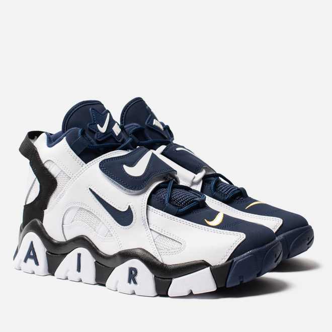 Мужские кроссовки Nike Air Barrage Mid White/Midnight Navy/Black/Laser Orange