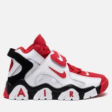 Мужские кроссовки Nike Air Barrage Mid White/University Red/Black фото- 3
