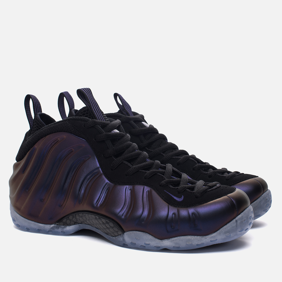 AIR FOAMPOSITE ONE PRO EGGPANT PURPLE RETRO SNEAKERS SHOES KEY CHAIN RING HOLDER