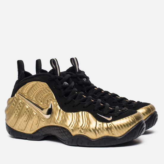 Мужские кроссовки Nike Air Foamposite Pro Metallic Gold/Black/Black/White