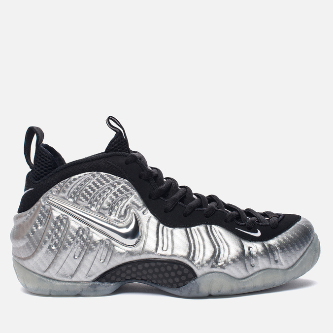 Мужские кроссовки Nike Air Foamposite Pro Silver Surfer Metallic Silver/Black/Metallic Silver