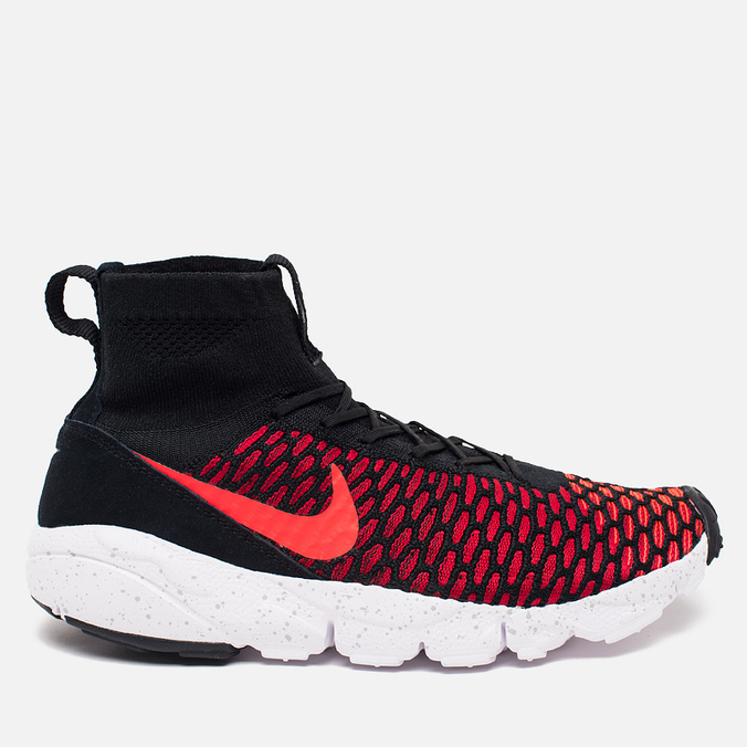 Мужские кроссовки Nike Air Footscape Magista Flyknit Black/Bright Crimson/Gym Red