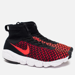 Мужские кроссовки Nike Air Footscape Magista Flyknit Black/Bright Crimson/Gym Red фото- 1