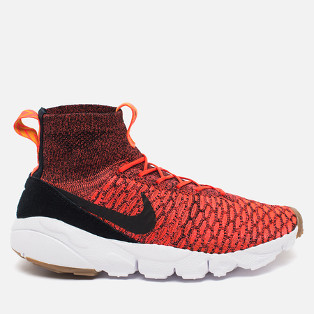 Nike Air Footscape Magista Flyknit Men's Sneakers Bright Crimson/Black - Gold Lead