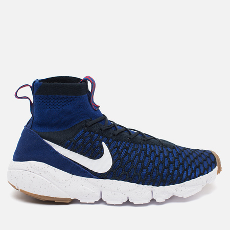 Nike Air Footscape Magista Flyknit Men's Sneakers Deep Royal Blue/White
