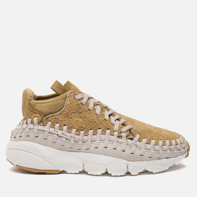 Мужские кроссовки Nike Air Footscape Woven Chukka QS Hairy Suede Pack Flat Gold